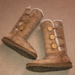 UGG Bailey Button Triplet II Suede Leather Boots
